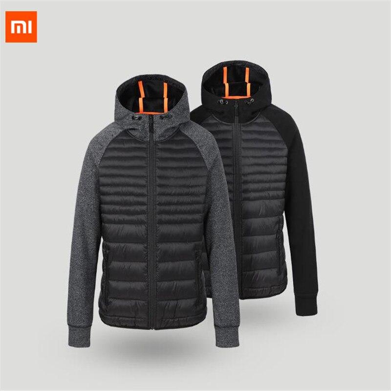 Xiaomi Uleemark Men cotton padded clothes Sports series Winter Autumn outdoor Spliced sportswear Camping Male Jacket