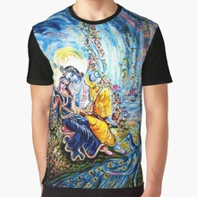aa1a63c6 All Over Print T Shirt Men Funny tshirt Radha Krishna Jhoola Leela Graphic  Women T-