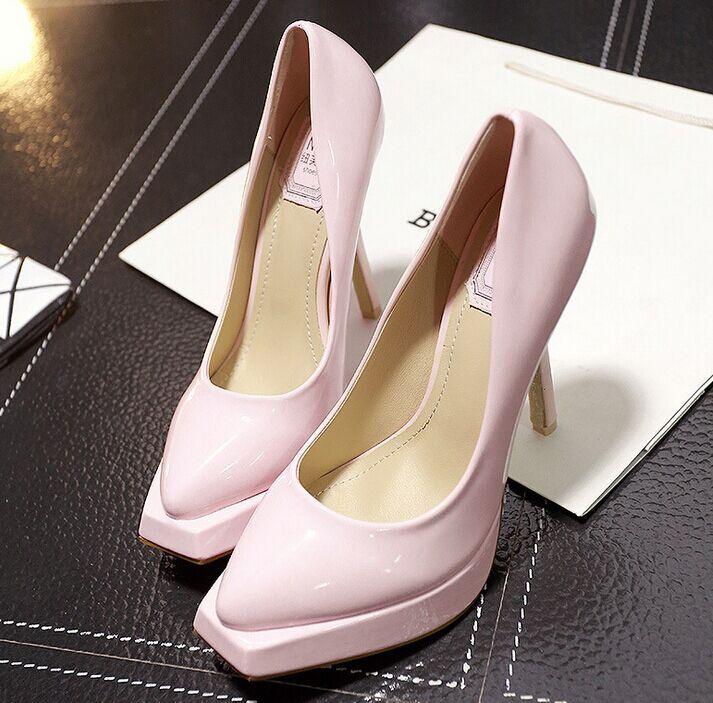 Size 4 8 Pink Elegant Sexy High Heels font b Women b font Pumps Wedding font