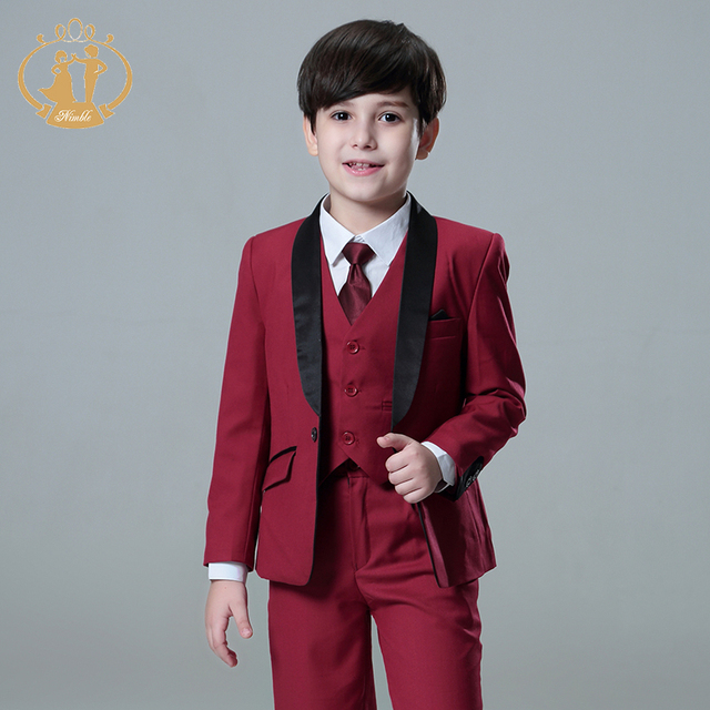 5pcs/Set Boys Suits For Weddings Kids Prom Suits Wedding Suits Kids ...