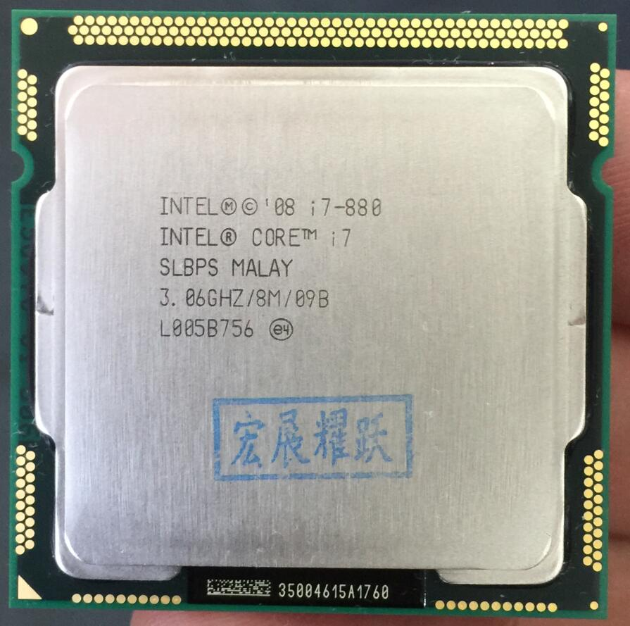 Intel Core <font><b>i7</b></font>-880 <font><b>i7</b></font> 880 Processor <font><b>LGA1156</b></font> Desktop CPU 100% working properly Desktop Processor image