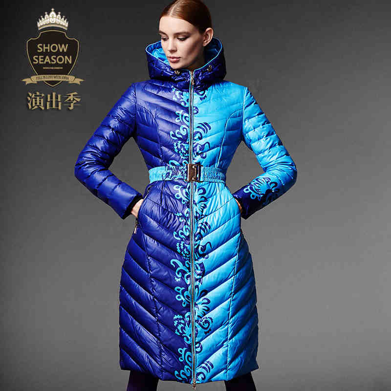 2015 Winter New Hot Thicken Warm Woman Down jacket Coat Parkas Outerwear Hooded Luxury High-end Long Plus Size XL Slim Print 2015 new hot thicken warm woman down jacket coat parkas outerwear hooded luxury slim long plus size xl slim cold leisure