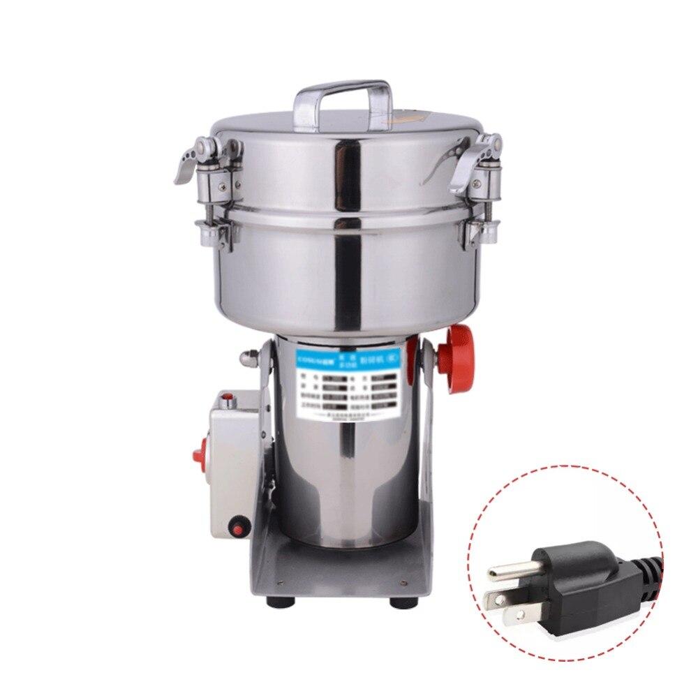2000 grammes de fraiseuse de broyeur de nourriture d'oscillation d'acier inoxydable Mmall Machine de poudre Superfine 200 V 110 V acier inoxydable