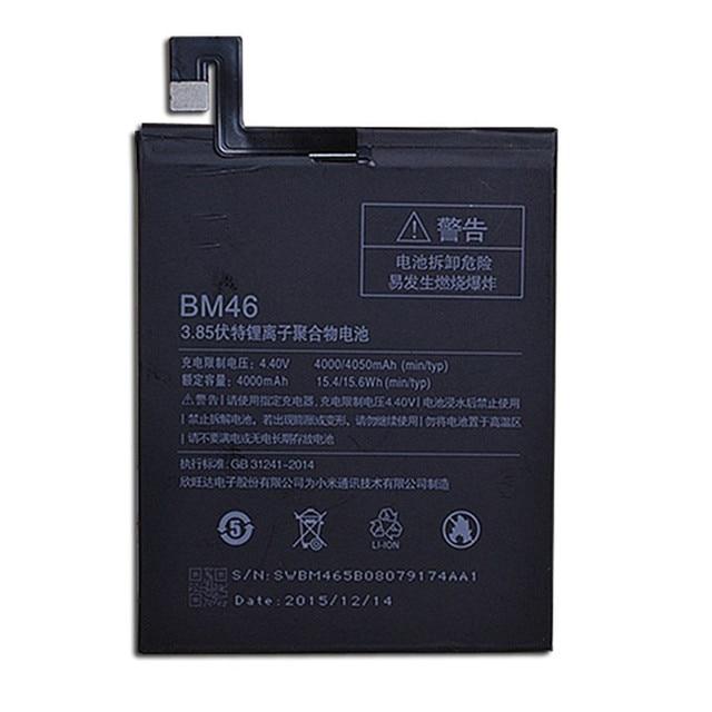 Genuine BM46 4000mAh Battery For Xiaomi Redmi Note 3 Xiao mi Hongmi note 3 Pro