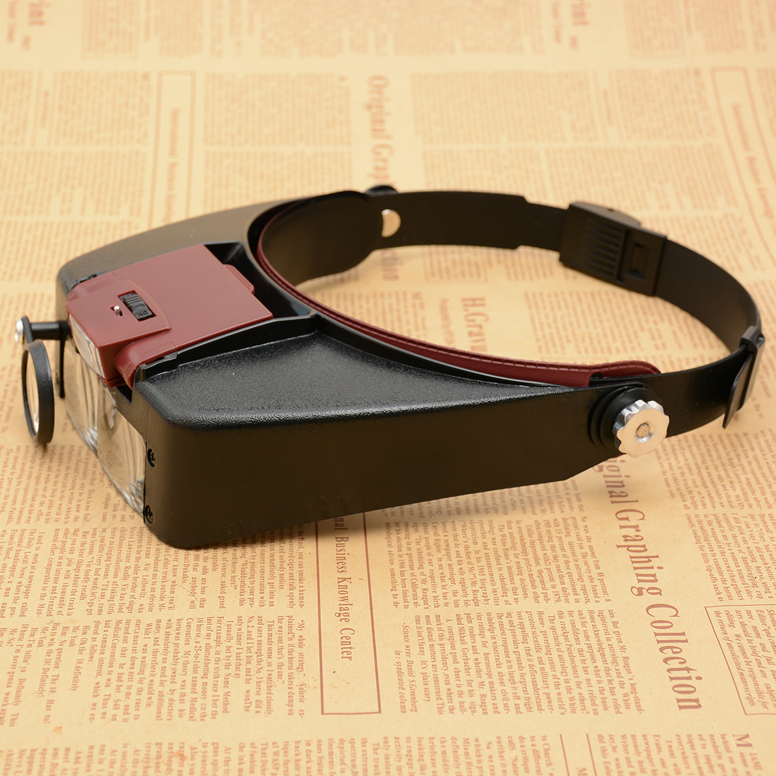 Loupe Microscope LED light Helmet Style Magnifier Glass Headband Magnifying Glasses Reading or Repair Use free shipping headband glasses magnifier led head light magnifying glass at once 2 pieces 5 groups of lenses loupe 2017 81001 g