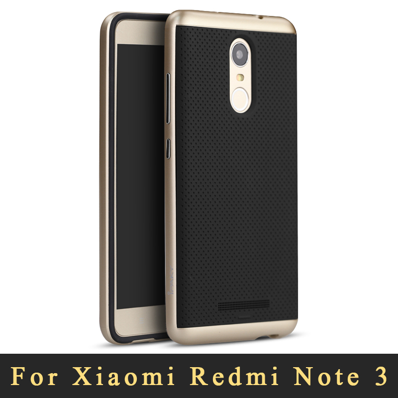 2016 For Xiaomi Redmi Note 3 Case Original iPaky Redmi Note 3 Pro Prime silicone Back Cover + PC Frame For Xiaomi Note3 cases