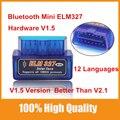 Os Melhores Mini ELM 327 Bluetooth 1.5 Leitor de Código OBD2 ELM327 V1.5 Melhor Do Que Suporte Todos Os Protocolos OBDII V2.1 Multi-língua