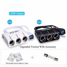 Новые 3 розетки Way автомобиля двойной 2 USB Автомобильное Зарядное устройство Авто-прикуриватели/Splitter Адаптеры питания для Iphone для Samsung/Видеорегистраторы для автомобилей GPS лидер продаж!