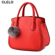 CLELO Luxury Handbags Women Bags Designer Handbag Shoulder Bag Female Black Tote Sac Bag For Girls
