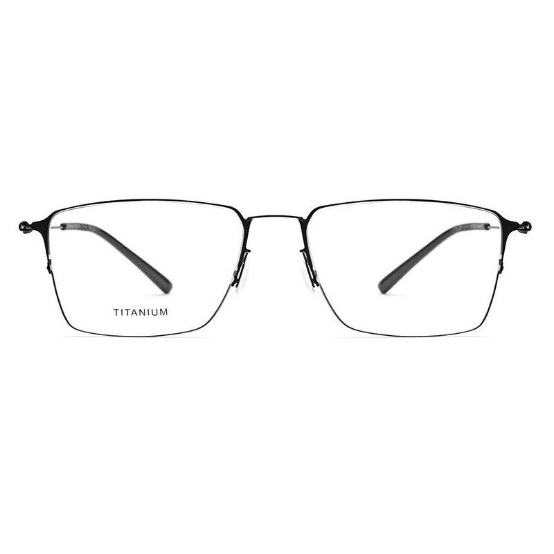 Screwless gold wire frame ultra light titanium alloy half frame square myopia glasses frame 28611