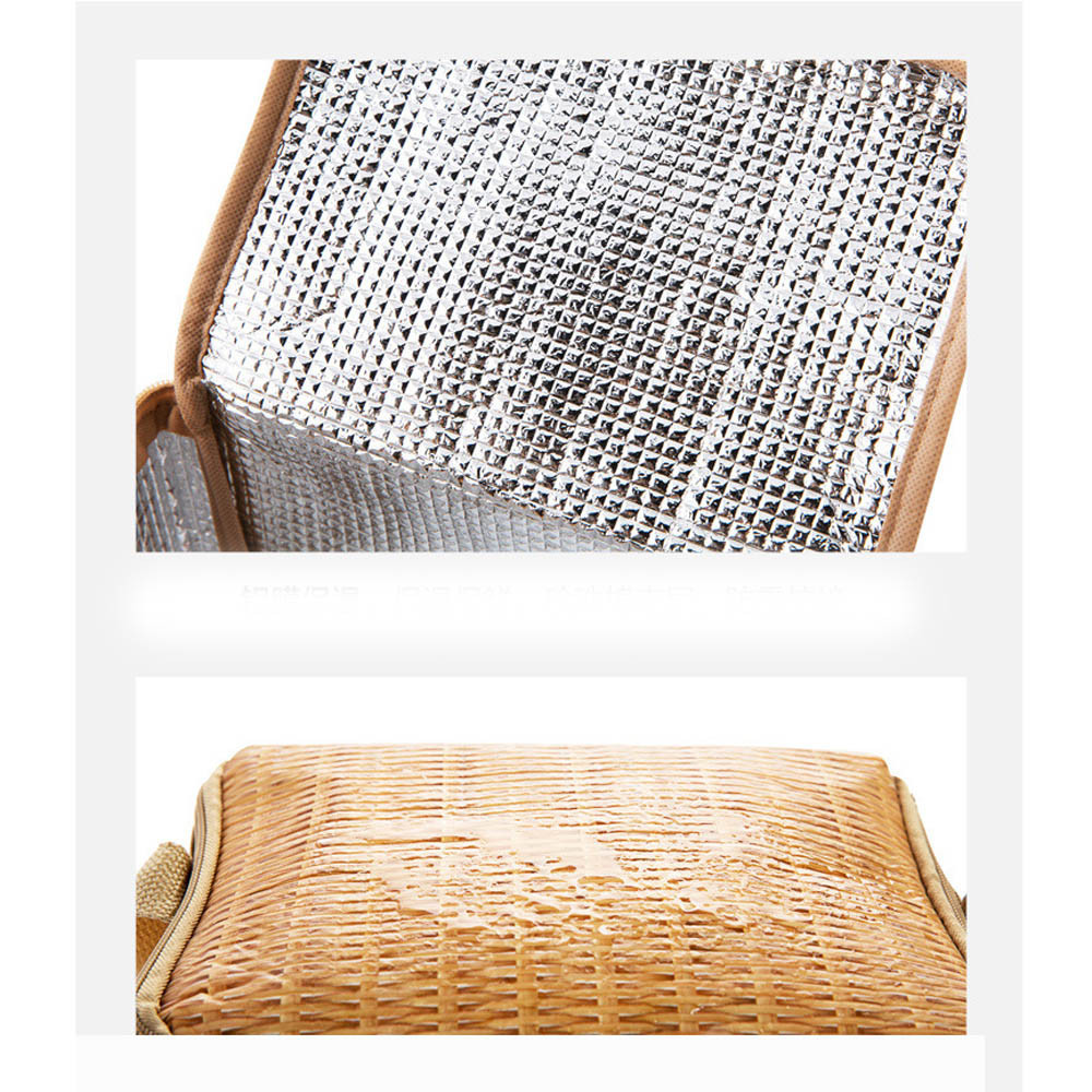 Rattan Lunch Bamboo Bag 4