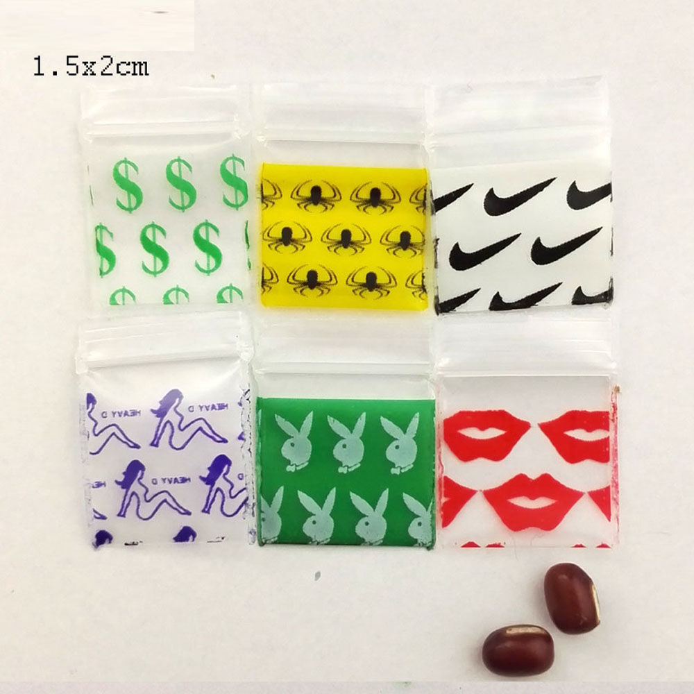 300 1000pcs different size desgin printing small size Self Sealing Zip Lock Bags Mini ziplock jewelry pouches mini ziplock bags in Storage Bags from Home Garden