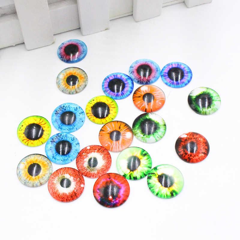 20 pcs חתיכות/1 זוג פלסטיק 8/12/18 MM זכוכית בובות עין DIY מלאכות עיני עבור ילדי צעצוע דינוזאור בעלי החיים עין אביזרים