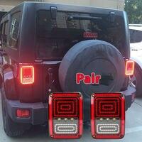 Pair Of Multi Functions LED Tail Light Wrangler Brake Signal Reverse Turn Light For Rubicon Wrangler