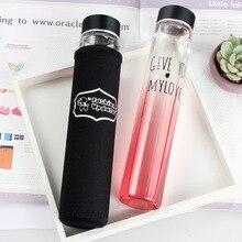 Kreatives design farbverlauf rohr glas wasserkocher rohr tasse form Kleine und reine und frische kunst glas wasserflasche