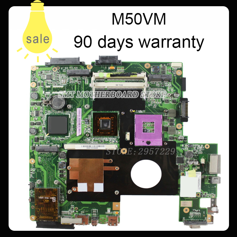 For L50VN X57V M50VC M50VM M50V Motherboard NPCMB1100-A05 NPCMB1500-A02 Mainboard M50VM REV 2.0 PM45100% tested for asus l50vn x57v m50vc m50vm m50v motherboard npcmb1100 a05 npcmb1500 a02 mainboard m50vm rev 2 0 pm45100