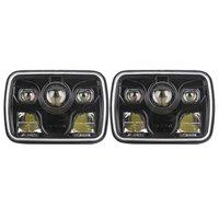 Пара черный 7x6 LED Фары для автомобиля с 80 Вт дальнего света 60 Вт ближнего света 60 Вт днем бег свет проектора для Jeep Cherokee грузовиков