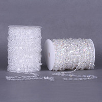 30M/Roll Width 10mm Cotton Line Bead Chain for Wedding Supplies Party DIY Accessories Decorations Crafts AP2761