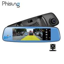 Phisung E06 видеорегистратор автомобильный Android зеркало autoregistrator Оперативная память 1 ГБ Встроенная память 16 ГБ ADAS BT WI-FI FM Две камеры 7.84 «IPS Экран 4 г Россия корабль