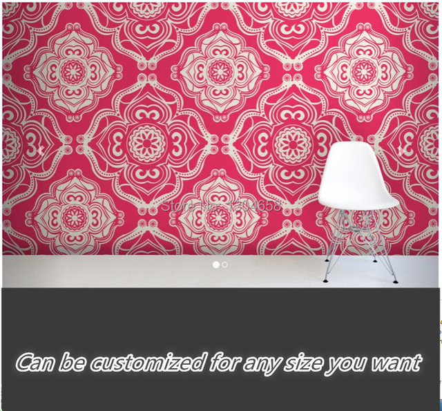 envo gratis saln murales de papel tapiz dormitorio sala de caf magenta barroco print wallpaper tela