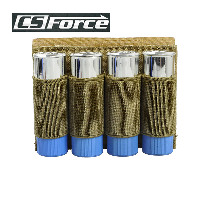 CS Force Military Magazine Molle Pouch Hunting Pouch Airsoft Hunting Stick Shotgun Shell Ammo Carrier Holder 4 Round 12GA 20GA