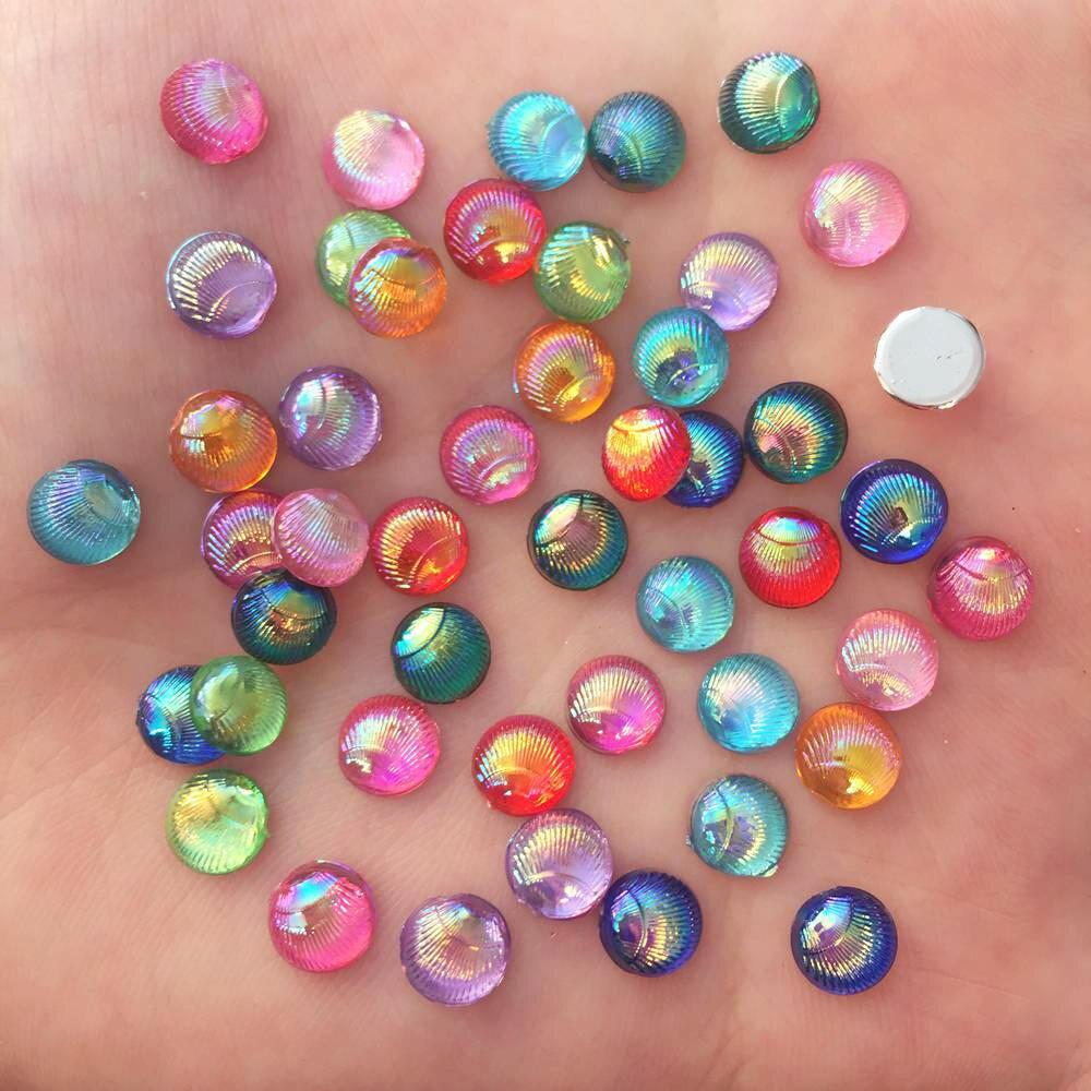 New 120PCS mix 10mm Resin heart Flatback 3D rhinestone Embellishment buttons DIY