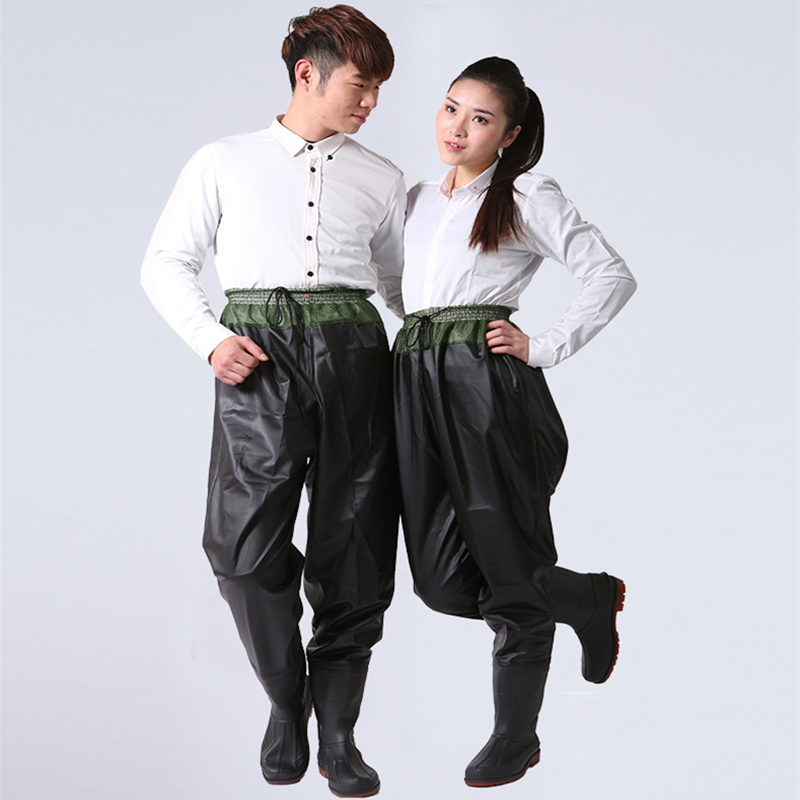 High Jump PVC Breathable Fishing Waders Pant Shoes Waterproof Fishing Wear Cloth Breathable Rafting Wear Stocking
