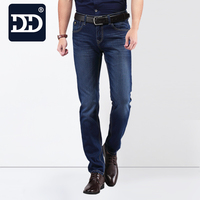 Free Shipping Nice Pair Of Denim Original Cotton Elastic Fabric Jeans Pants Trousters For Men