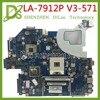 KEFU LA-7912P płyta główna pasuje do ACER Aspire E1-571G V3-571G V3-571 płyta główna Q5WVH LA-7912P HM77 GT630M Test oryginalny
