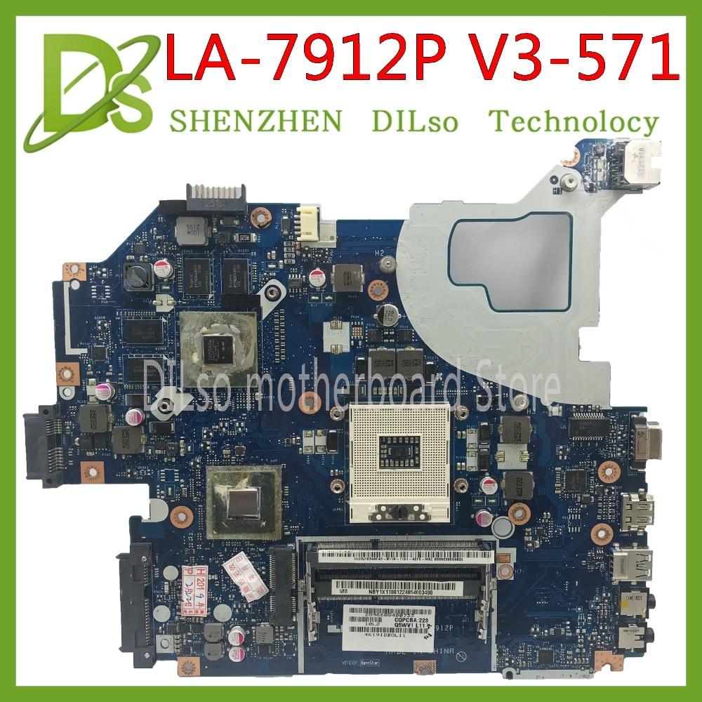 KEFU LA-7912P motherboard apto para ACER Aspire E1-571G V3-571G V3-571 motherboard Q5WVH LA-7912P HM77 PGA989 Teste original