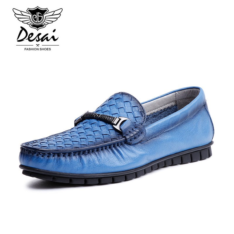 DESAI Man Casual Shoes Cow Leather Black Shoes Men Footwear Spring Autumn Leather Male 25-27 CM High Quality Free Shipping укроп cykoria сушеный