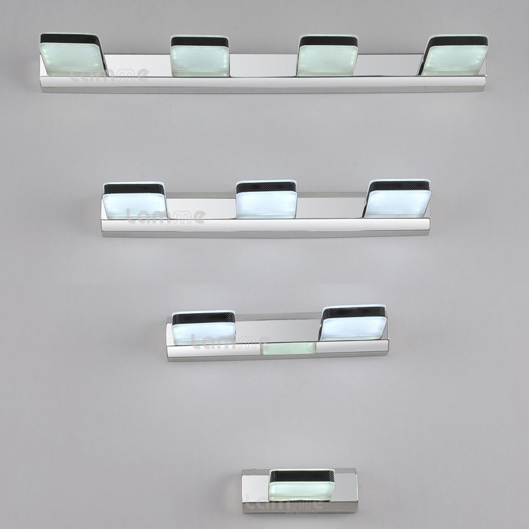 ФОТО White LED Square Acrylic Bathroom Wall lamp Modern Mirror Front Fashion wall light Showroom Cabinet washroom wall lamp