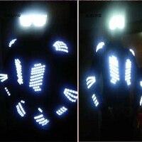 Новинка 2015 Fahion джаз костюм LED Экипировка свет куртка этап певица наряд для певцов костюм Для мужчин