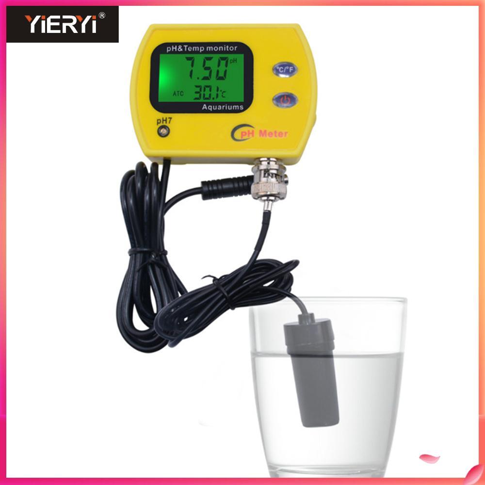 Yieryi Acidimeter Medidor de pH & TEMP Digital LCD Aquário PH Monitor de Qualidade Da Água Potável Eletrodo Analisador PH-991 Com Backlight