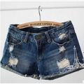 New jeans womens 2015 summer style fashion hole shorts female denim shorts women jeans shorts casual jeans M/L/XL