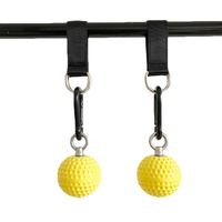 2pcs 7.2cm Pull Up Balls Cannonball Grips Strength Training Arm Muscles Barbells Gym Hand Grip Ball With Bandage Carabiner