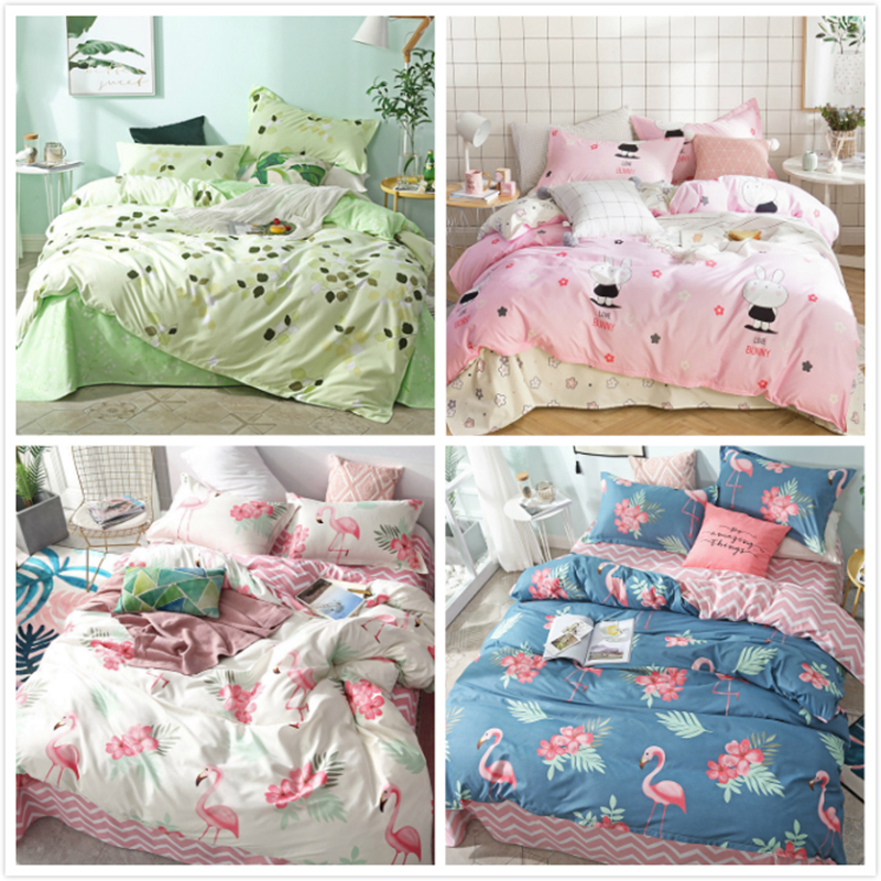 Flamingo Muster Bettbezug Kissenbezug 3 stücke Bettwäsche Set Weiche ...