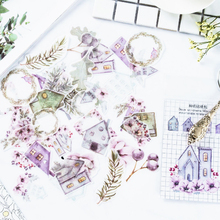 40pcs/lot Beautiful life series paper sticker decoration Stickers Diary Decoration Scrapbooking diy seal Sticker Stationery vintage girl seal sticker alice series snow white series creative matchbox seal sticker label sticker home decoration stickers