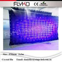 DJ booth customized hot sales led video curtain P5cm 2x3m charming led video wall durable led curtain