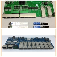 5pcs 8 RJ45 ports + 2 SFP ports POE reverse switch board kits, and add 1pc 8 SFP ports + 2 RJ45 ports normal switch board