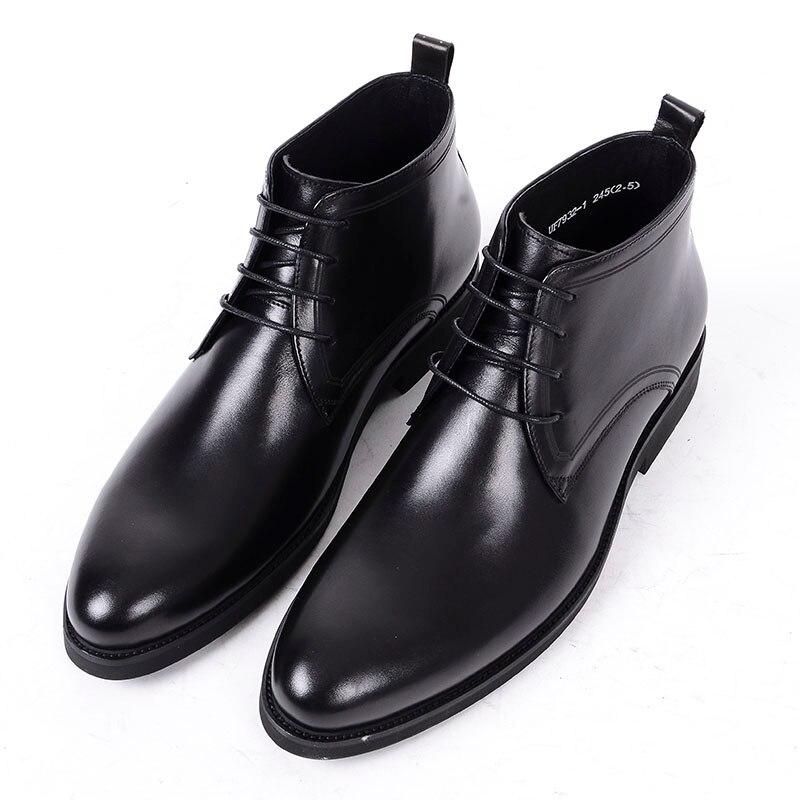Suede Negocios Zapatos De Formales Con Cordones Botas Trabajo leather Black Cuero Ante Hombre Tobillo Leather Negros Lujo Para Grimentin 4EZEBwxq