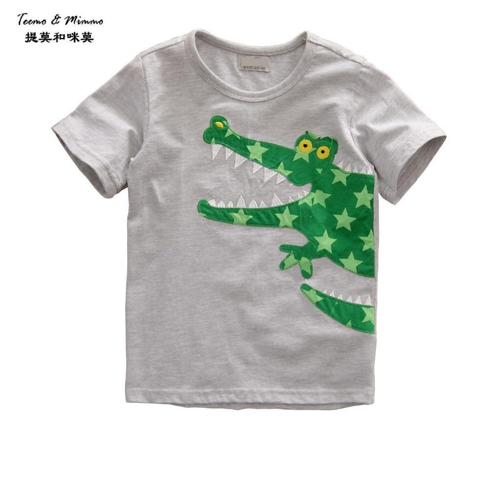 Shirt design in girl - Teemo Mimmo 1 6y Gray Crocodile Cartoon Cute Girl Kids T Shirt Baby Clothing Children S Kids Summer Wear Outwear Designer
