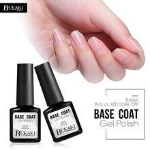 BUKAKI Top Base Coat Soak Off UV Gel Varnish Primer Long Lasting LED Gel Nail Polish Non Cleansing Nail Gel Art Finish Top Coat