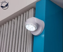 Security 9 LED Motion Sensor Night Light 360 Degree Rotation Wall Lamp Porch Light For Indoor and Outdoor Automatic