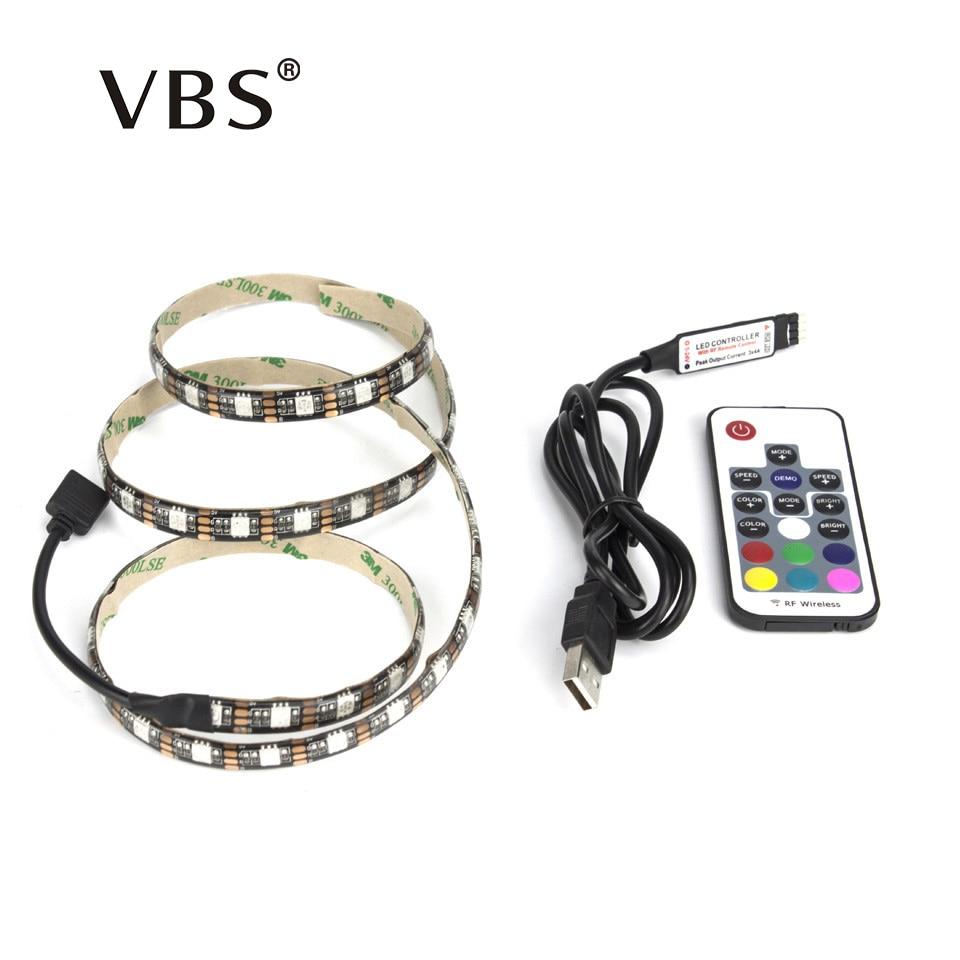 5050 RGB USB LED Strip TV Background Light Lamp 5V led strip with 17Key RF Controller or Mini 3Key Controller IP65 IP20 Led tape