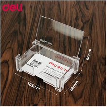 Deli Big Capacity Business Name Card Holder Credit Card Holder memo pad card box