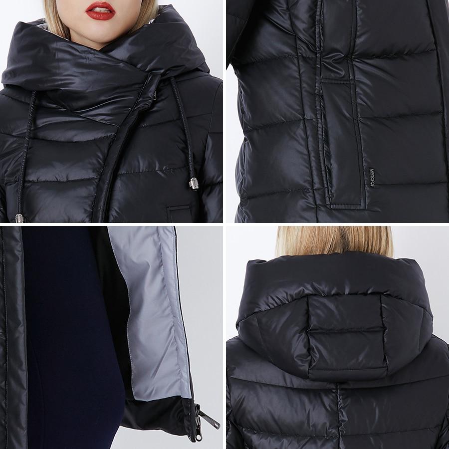 Miegofce 2019 casaco de inverno das mulheres com capuz quente parkas bio fluff parka casaco alta qualidade feminino nova coleção inverno quente - 5