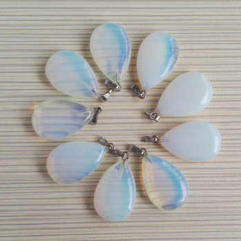 fashion mixed warter drop natural stone pendant for jewelry making charm Point accessories 50Pcs/lot Free shipping Wholesale