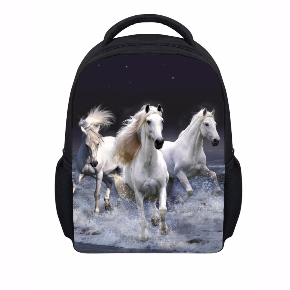 3D Boys Animal Backpack Crazy Horse Printing School Bagpack For Children Cute Cat Kids Kindergarten Book Bags Sac A Dos Mochila