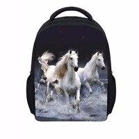 Fashion 3D Girls Animal Backpack Crazy Horse Printing School Backpacks For Children Cool Kids Kindergarten Book